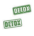 Detox rubber stamp isolated on white background vector image