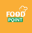 food logo template design elements with spoon and vector image