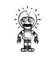 Isolated toy robot damaged design vector image