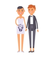 Wedding lesbian couples characters vector image