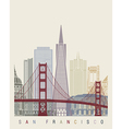 San Francisco skyline poster vector image