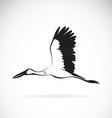 Stork flying vector image vector image