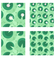 Lily in a green swamp seamless pattern vector image vector image