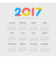 Calendar 2017 year Week Starts Sunday vector image