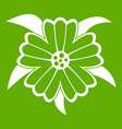 flower icon green vector image
