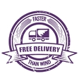 Grunge Faster Than The Wind delivery stamp vector image