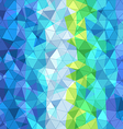Abstract background of different color triangles vector image