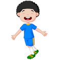 Children celebrate his goal vector image vector image