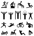 Exercise and fitness vector image vector image