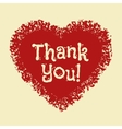 Card with hand drawn grunge heart icon Thank You vector image