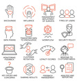 Set of icons related to business management - 27 vector image