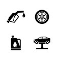 auto simple related icons vector image