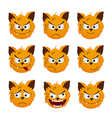 cat smiles vector image