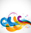 Colorful stylish eps10 floral vector image