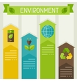 Ecology infographic with environment icons vector image