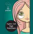 hydro gel eye patches ads vector image