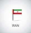 Iran flag pin vector image