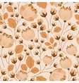 Retro floral beige and brown seamless pattern vector image