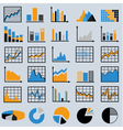 Set of diagrams and graphs vector image