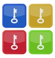 set of four square icons with key vector image