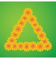 Triangle with yellow flowers vector image