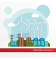 Wind power station Colorful in a vector image