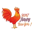 hinese Symbol Red Rooster vector image