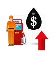oil and petroleum price theme vector image