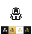 Backpack logo or linear luggage icon vector image vector image
