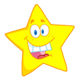 Cheerful Yellow Star vector image