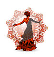 oriental dance dancer in red vector image vector image