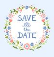 Save the date floral wreath vector image vector image