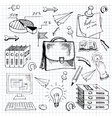 Business doodles vector image