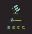 Letter e logo icon set vector image