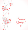 Greetings card with garland of hearts vector image
