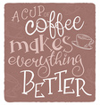 hand drawn inspiration lettering quote - a cup of vector image