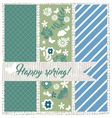 Abstract Textured fabric card vector image