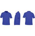 blue polo t shirt vector image