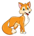 cute fox on white background vector image