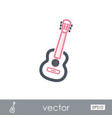 guitar beach outline icon summer vacation vector image