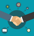 handshake of business partners successful deal vector image
