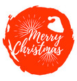 merry christmas label font with brush xmas badges vector image