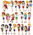 Office women set vector image