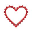 valentine day heart decorative vector image