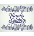 Thanks given icon set design vector image