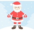 Santa Claus in winter forest vector image vector image