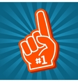 Bright orange foam hand vector image vector image