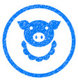 pig reward rounded grainy icon vector image