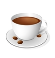 Coffee cup isolated on white vector image