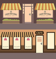 Cafe building Set of elements for construction of vector image